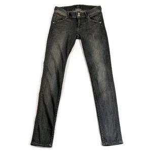 Hudson Collin Skinny Jeans Gray Wash Size 26